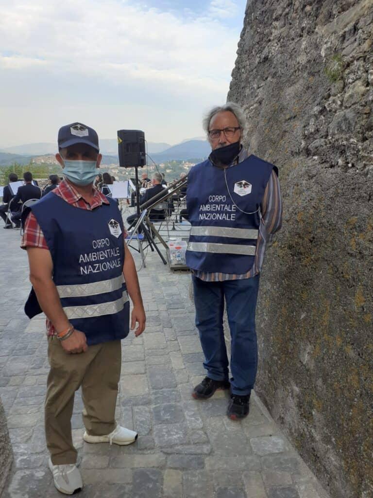 Ginestra Sabina : inaugurata la piazza della Torre con la presenza della Banda musicale con il maestro Giancarlo Cecca